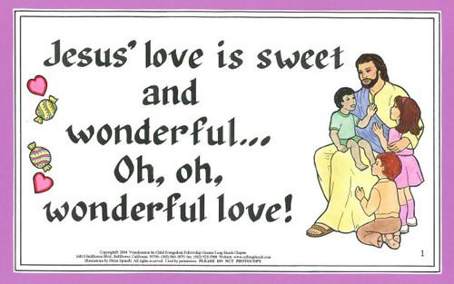 Jesus Love is Sweet and Wonderful