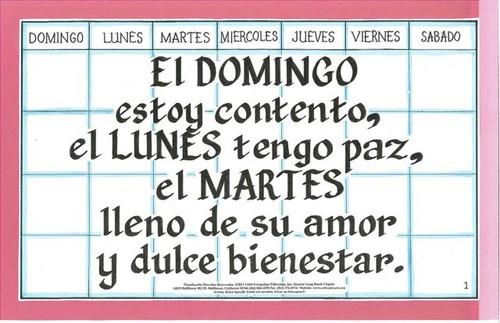 El Domingo Estoy Contento (Saved Every Day of the Week)