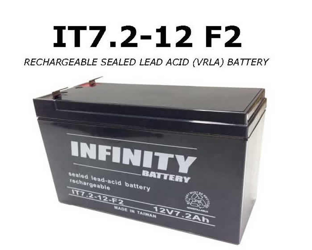 GS Infinity - IT 7.2-12 F2 - 12volt - 7.2Ah - F2