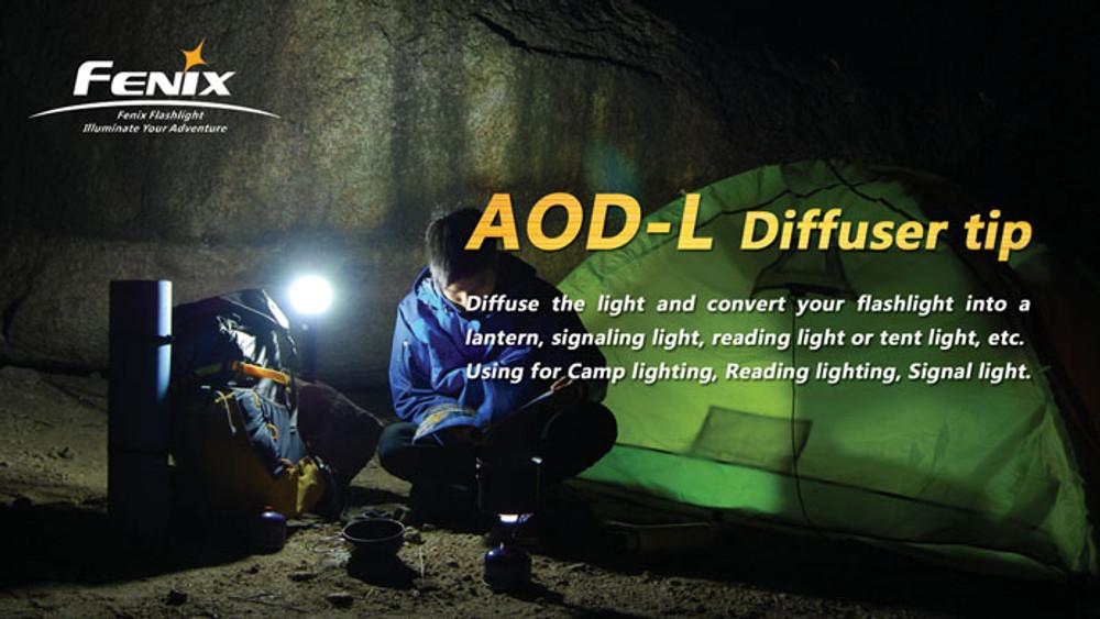 AOD-L - Diffuser Tip (Transparent - 63mm)