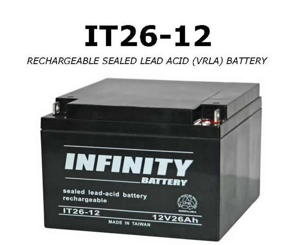 GS Infinity - IT 26-12 NB - 12volt - 26Ah - NB