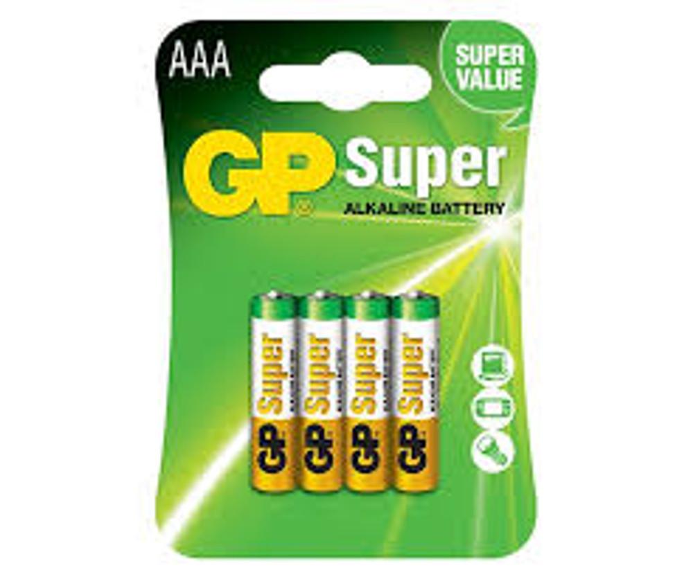 GP Super Alkaline AAA - GP24A-C4 (4 pack)
