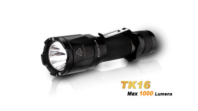 TK16 LED Flashlight - 1000 Lumens. 18650/2xCR123A