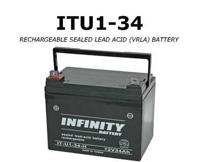 GS Infinity - IT U1-34 U1 - 12volt - 34Ah - U1