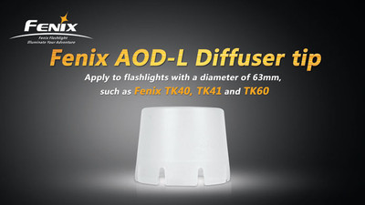 AOD-L - Diffuser Tip (Transparent - 63mm)