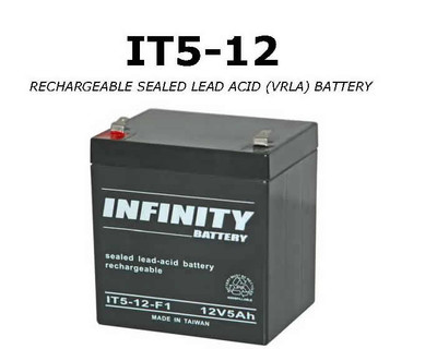 GS Infinity - IT 5-12 F1 - 12volt - 5Ah - F1
