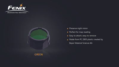 AOF-S+ Green filter adapter for PD35, PD12 and UC40