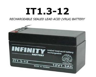 GS Infinity - IT 1.3-12 F1 - 12volt - 1.3Ah - F1