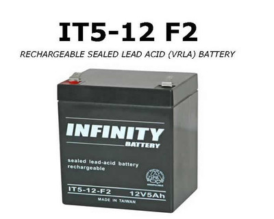 GS Infinity - IT 5-12 F2 - 12volt - 5Ah - F2