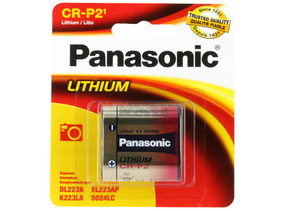 CRP2-P (Panasonic CR-P2 - Lithium 6V  1-pack)
