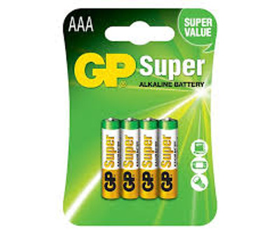 GP Super Alkaline AAA - GP24A-C4 (4 pack)