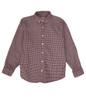 Red Black Check Button Down Shirt