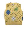Boys Pastel Yellow Argyle Sweater Vest