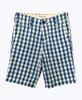 Blue Green Plaid Longboard Shorts