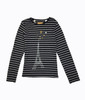 Eiffel Tower Black Stripes Shirt