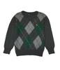 Gray Diamond Argyle Sweater