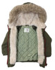 Olive Faux Fur Hooded Jacket