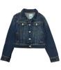 Girls Dark-Wash Denim Jacket