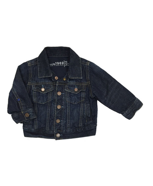 Dark Wash Jersey-Lined Denim Jacket