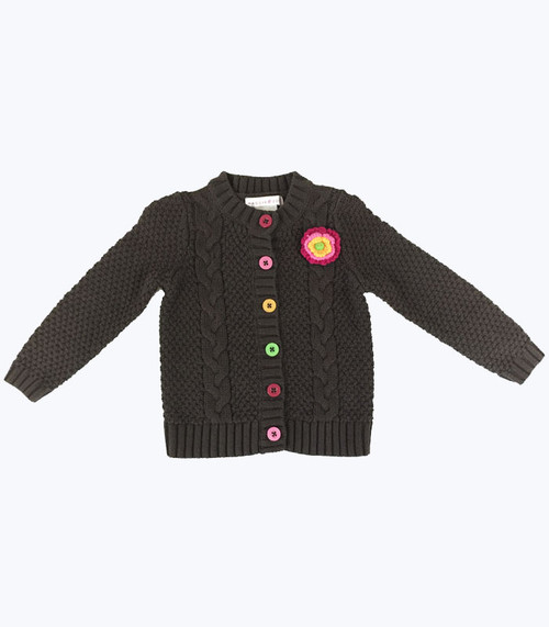 SOLD - Brown Knit Cardigan