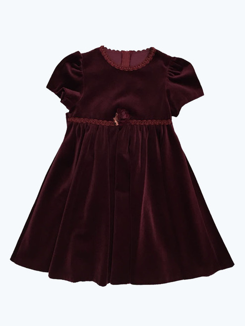 SOLD - Velour Special Occasion Dress