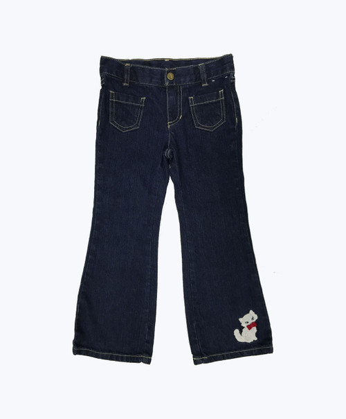 Kitten Appliqued Denim Jeans