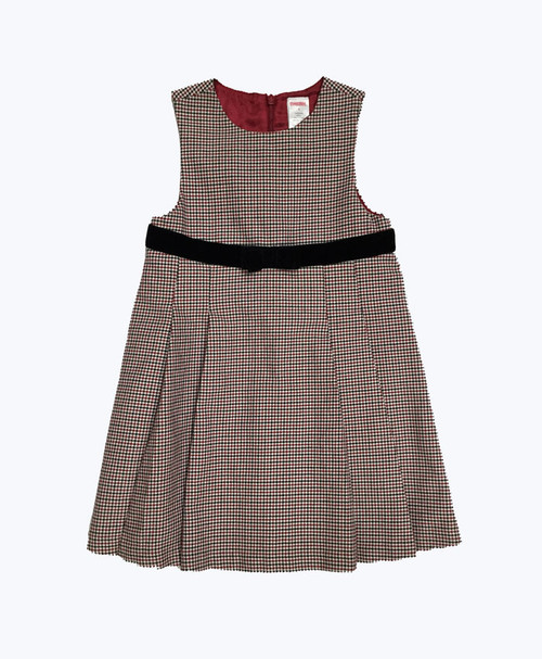 Red Black Check Holiday Dress