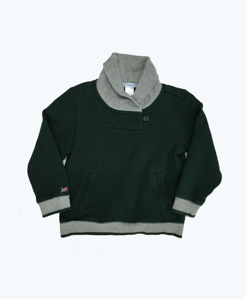 SOLD - Green & Gray Pullover