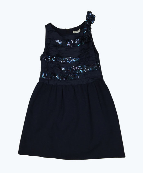 Holiday Blue Sequin Dress