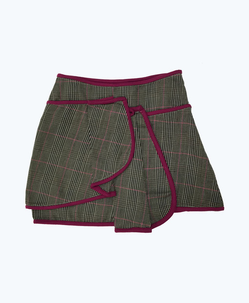 Purple Trim Tweed Skirt