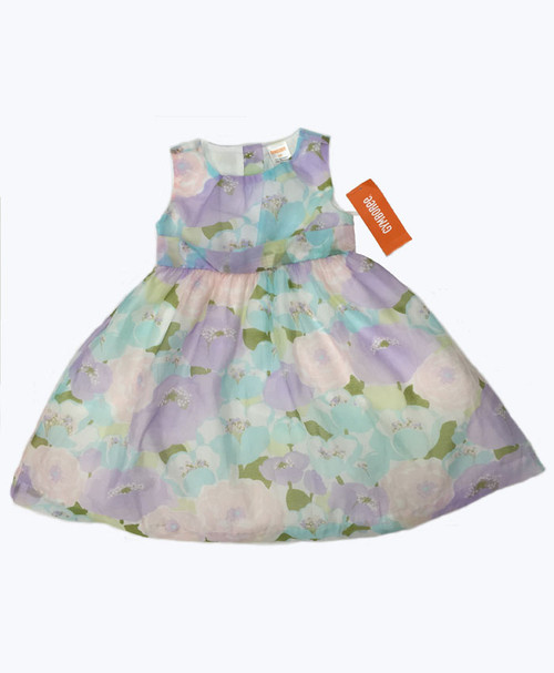 Pastel Floral Sleeveless Dress