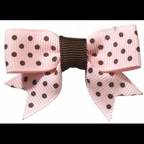 Dottie Dark Brown/Pink Clip