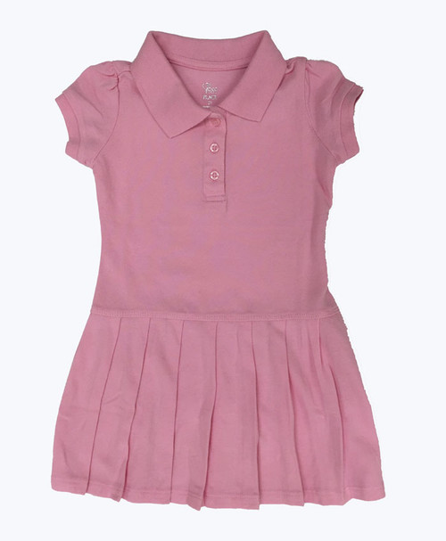 Pink Short Sleeve Polo Dress