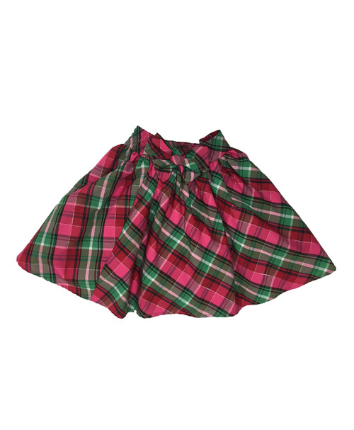 Plaid Bow Skirt