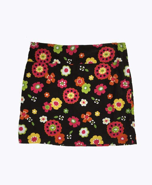 SOLD - Brown Floral Corduroy Skorts