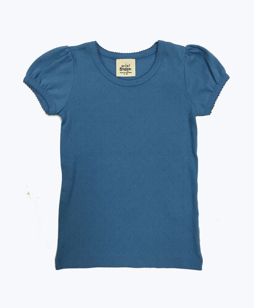 SOLD - Powder Blue Pointelle Shirt