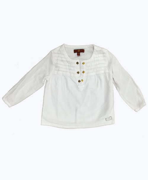 SOLD - Textured Cotton Blouse