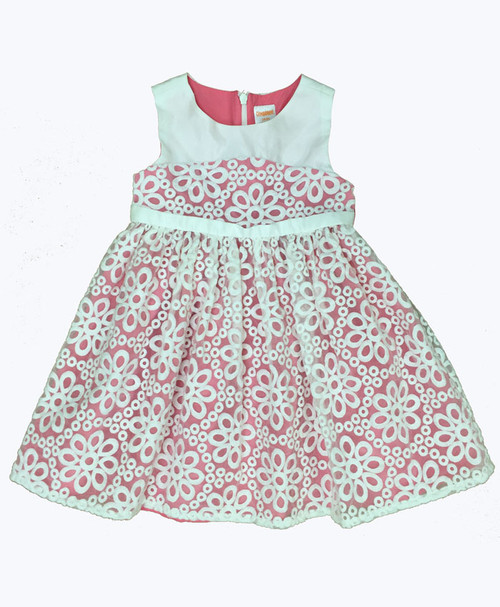SOLD - Embroidered Organza Dress