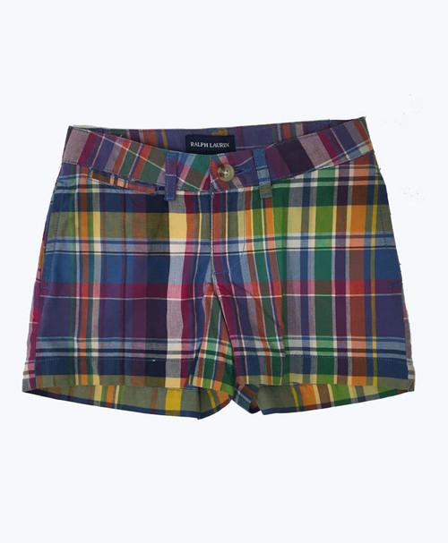 Multi-Color Plaid Shorts