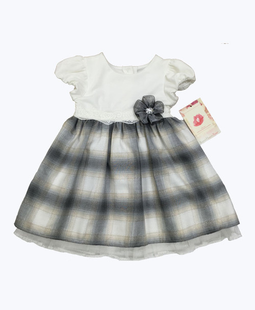 SOLD - Silver Plaid Dress
