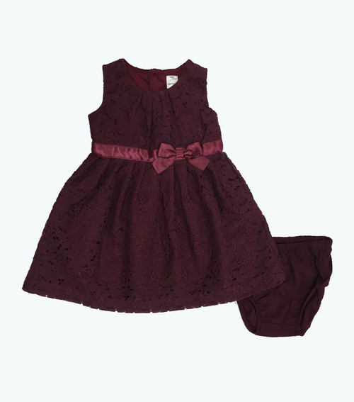 SOLD - Maroon Lace  Dress