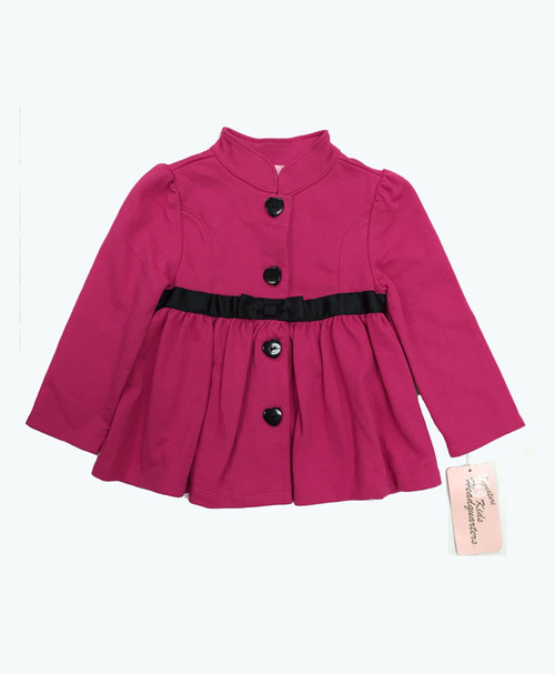SOLD - Pink Jacket w/ Black Ribbon Bow