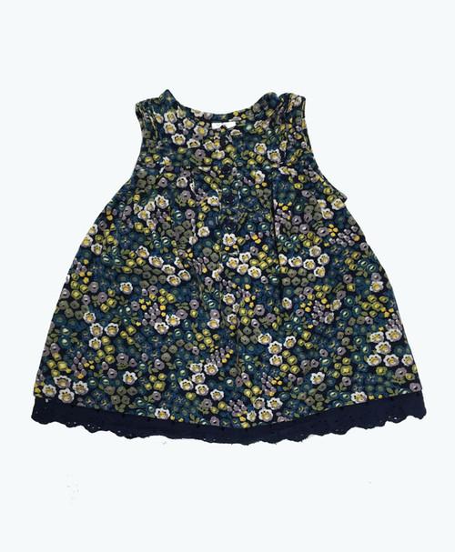 SOLD - Floral Corduroy Dress