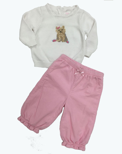 SOLD - Puppy Sweater and Corduroy Pants