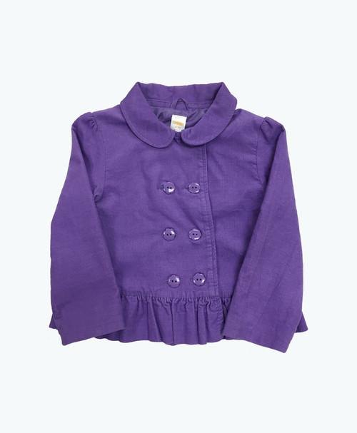 Lilac Corduroy Peplum Jacket