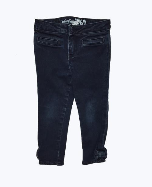 Dark Denim Bow Jeans