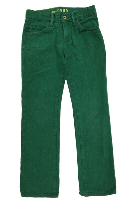 Green Colored Straight Jeans