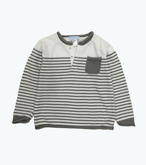 Gray Striped Sweater