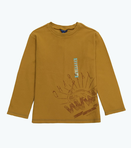 Boys Gold Thermal Lizard Tee