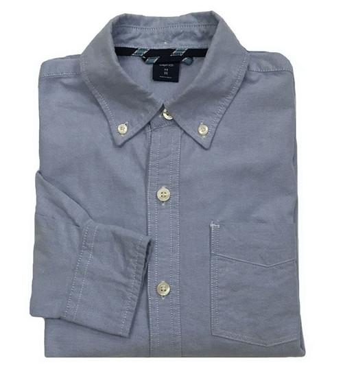 Blue Oxford Button-Down Shirt